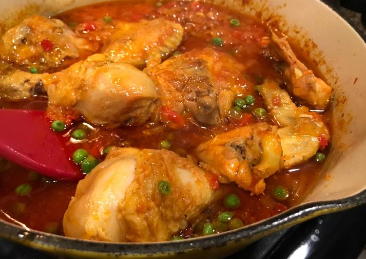 (Somewhat Deconstructed) Arroz con Pollo - Laurie G Edwards