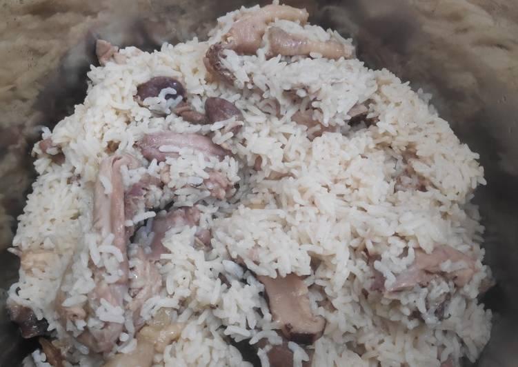 Cara mudah membuat Nasi Tim Ayam