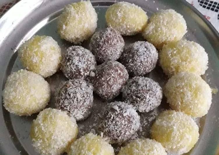 Simple Way to Prepare Quick #Paneer Coconut laddu#
