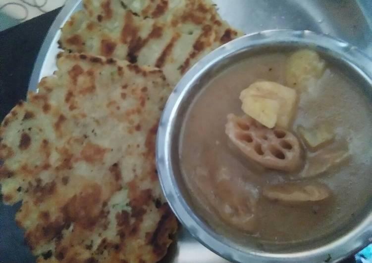 Recipe of Award-winning Rajgira roti and sabji