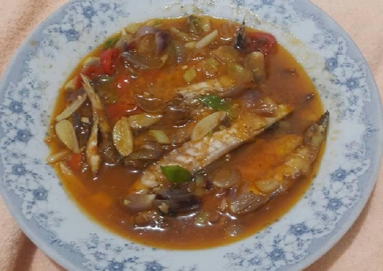 Sarden Pindang (ikan cue) bumbu alami