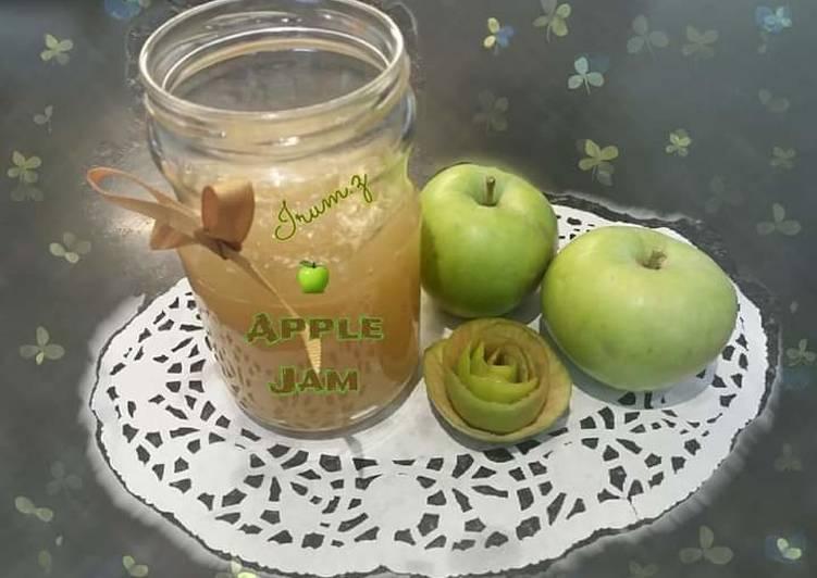 Recipe of Speedy 🍏🍎Homemade Apple Jam🍏🍎 (made from homegrown apples)