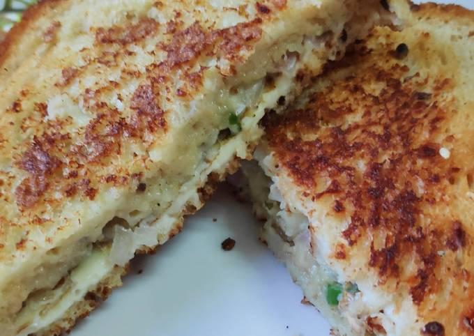 French Toast Cheese Sandwich in Multigrain Bread