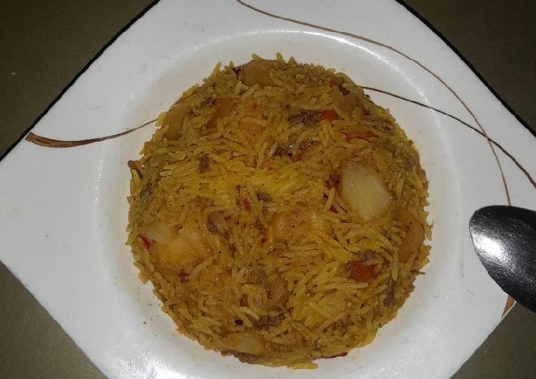 Quick potato basmati rice