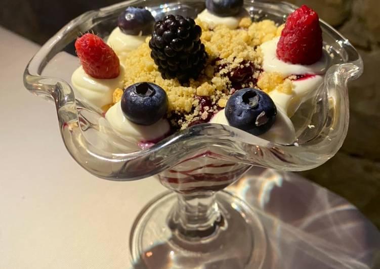 Ricetta Crema di cheesecake ai frutti di bosco