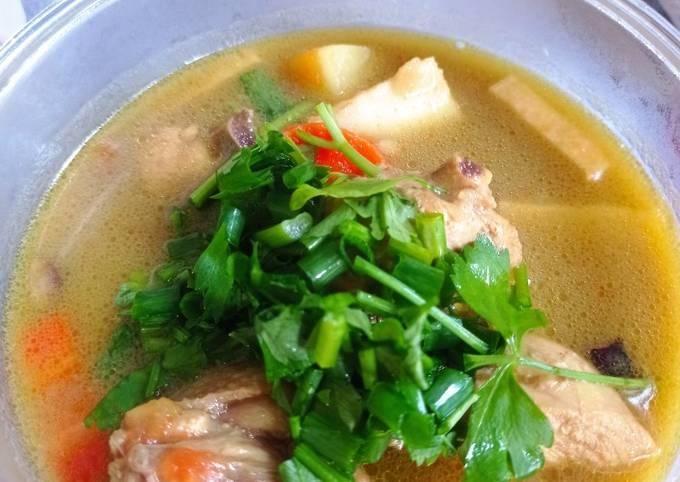 Sup ayam mamak