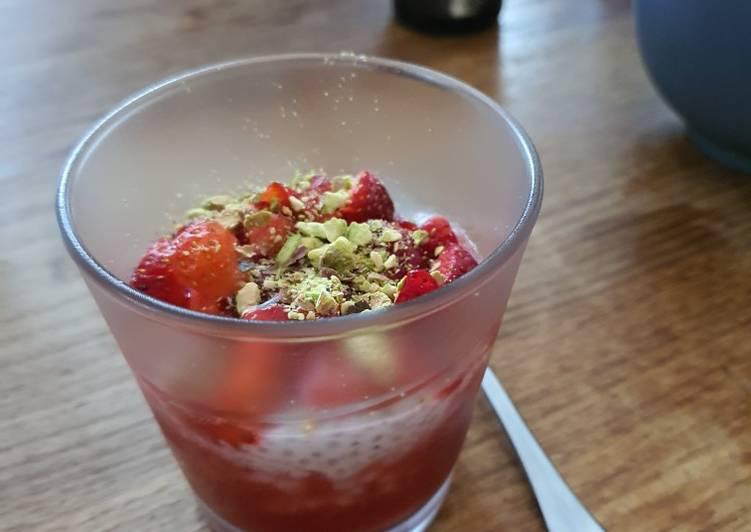 Chia pudding fraises/ coco