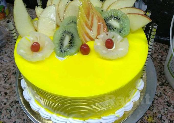 Fresh Fruit Cake Eggless