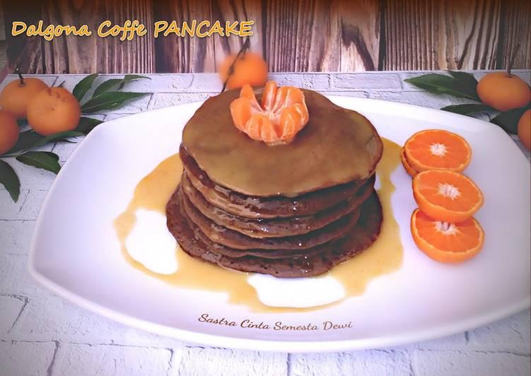 Dalgona Coffe PANCAKE with Orange Coconut Sauce