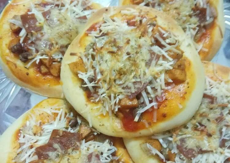 Langkah Mudah untuk Membuat Pizza Mini Gampil Mama Myungsoo 😂, Bikin Ngiler