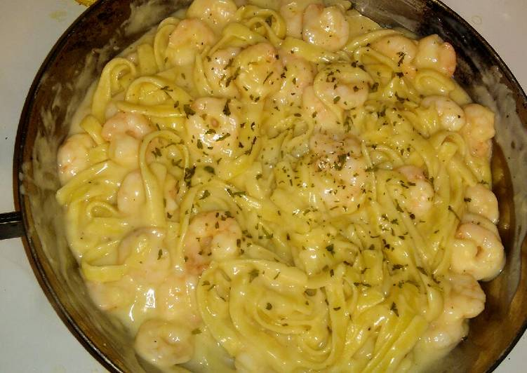 Recipe: Tasty Shrimp Alfredo