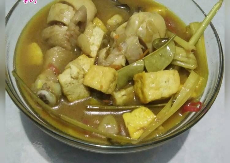 Opor ayam tahu kuning indofood