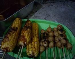 Jagung Bakar, Bakso Bakar (bumbu bakar pedas)