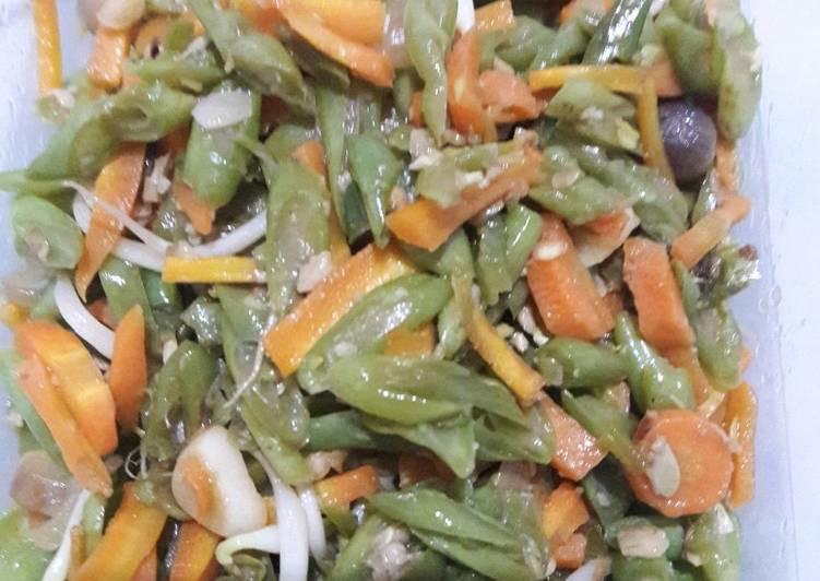 Tumis buntel (buncis-wortel)