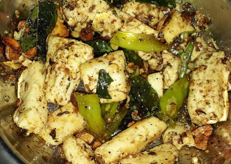 Chilli garlic paneer