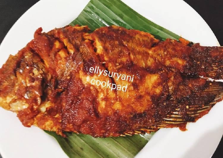 Ikan Gurame Bakar Pedas Nampol Sedap Nian