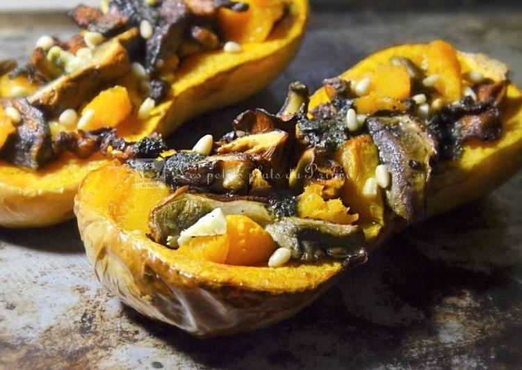 Façon la plus simple Préparer Appétissant Butternut farcie aux champignons
