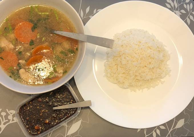 Sup Ayam Berempah Simple Orang Bujang