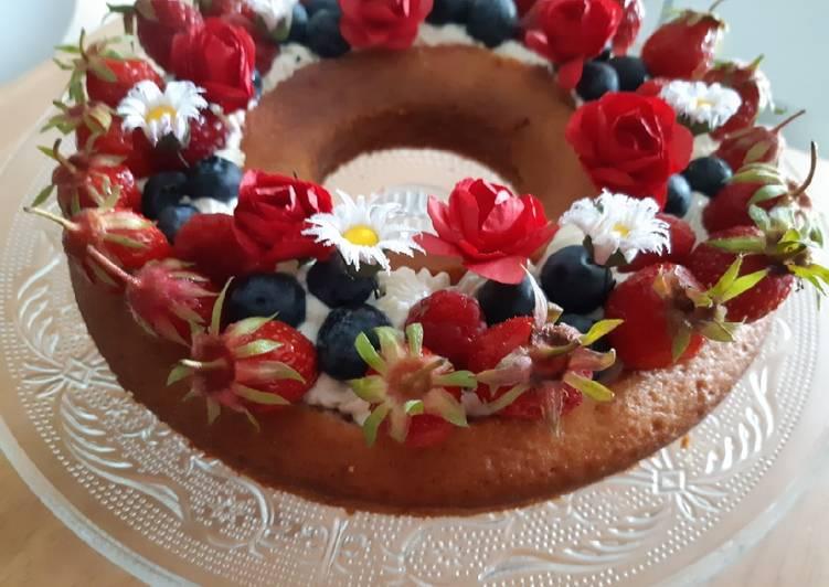 Recette Parfait Gâteau aux fruits rouges