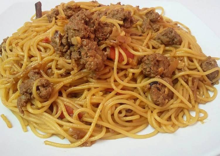 Spaghetti Semur Daging Giling