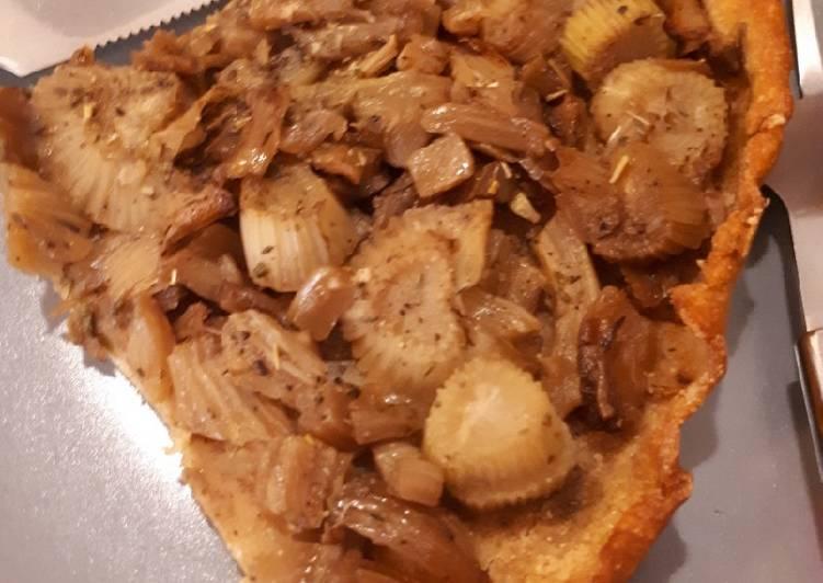 Le moyen le plus simple de Cuire Savoureux Tarte de fenouils confits sur pate à la farine de pois chiche