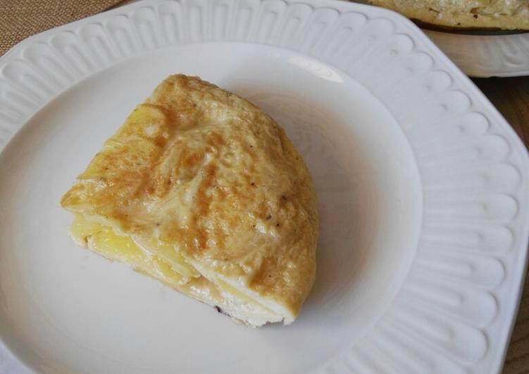 Tortilla de patatas ligera