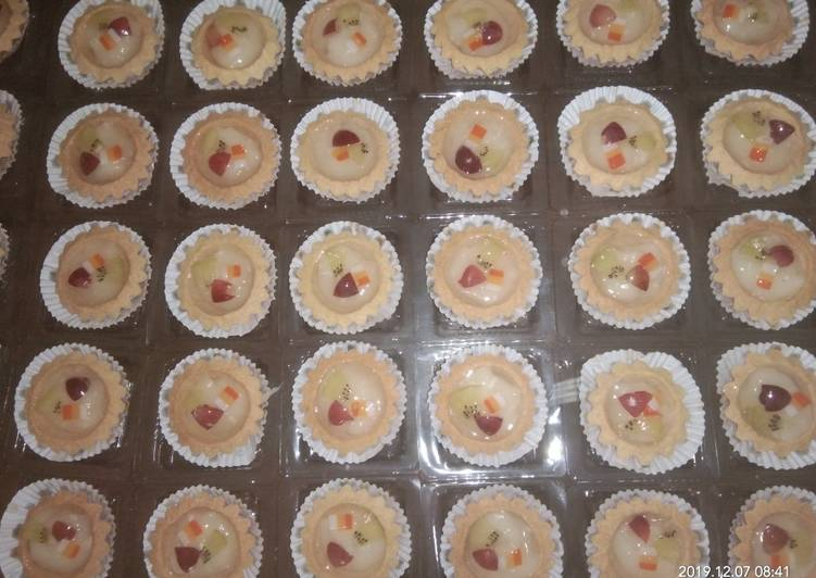 Resep Kue pie buah fla keju Terbaik