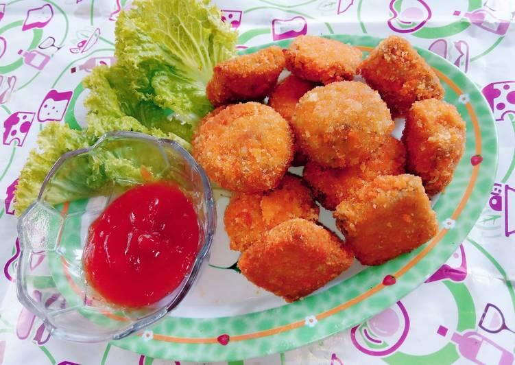 Fried vegetables with bread crumbs aka nugget TTS (tahu,tempe&sayur)a ala Dapoer Mamake 👩🍳