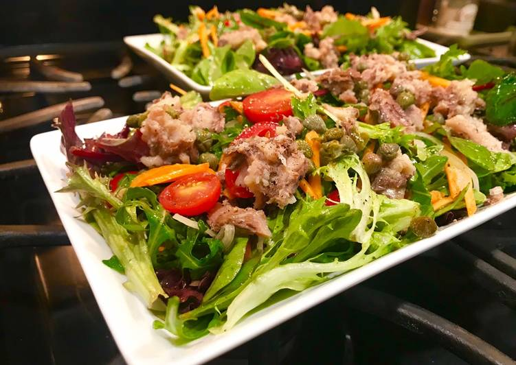 Quick Sardine Salad with Orange Vinaigrette & Capers for 2