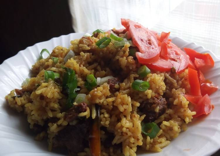 Easiest rice and meat #creativerice