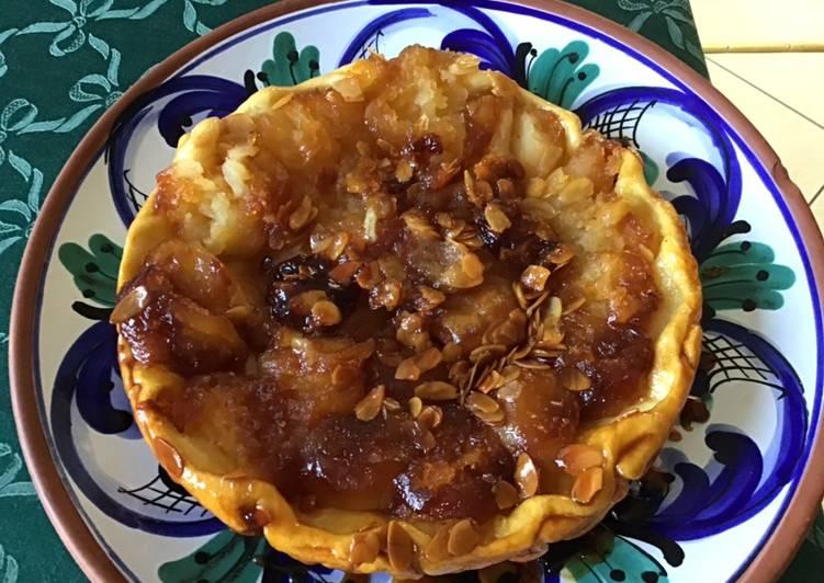 Comment Faire Des Tarte renversée pommes amandes et caramel de citron