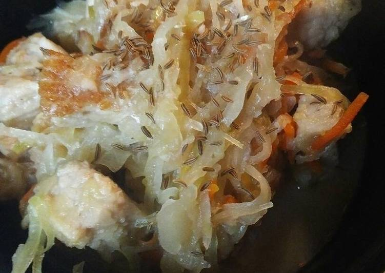 Recipe: Perfect Sweet and Sour Pork and cabbage