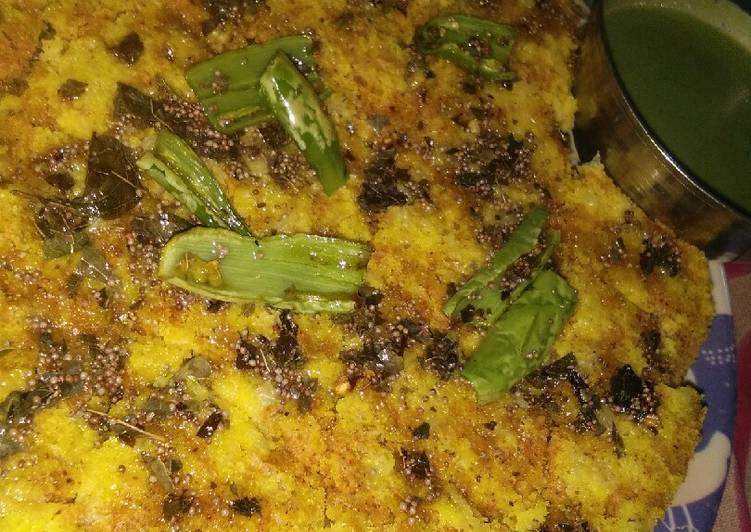 15 Minute Easiest Way to Prepare Homemade Namkeen Dhokla