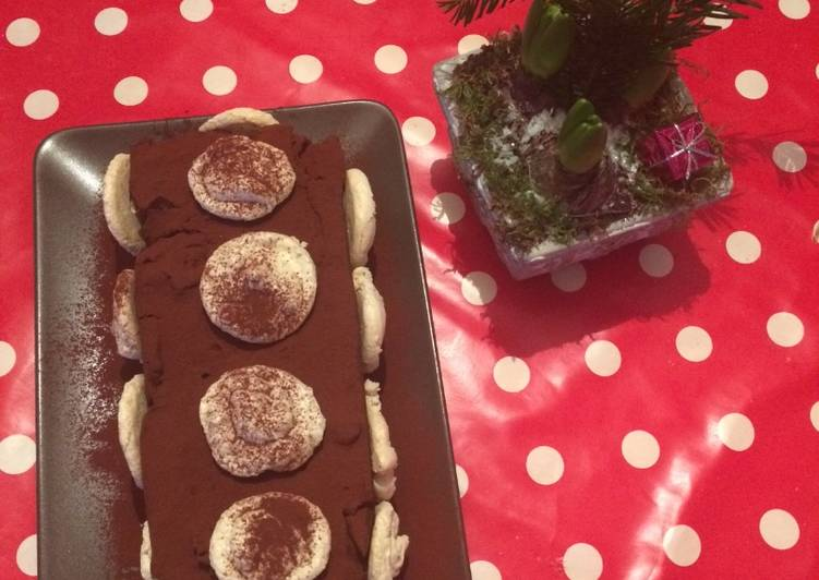Bûche chocolat-meringue