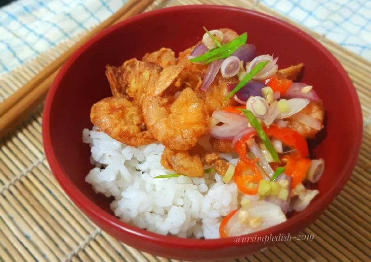 Rice Bowl Udang Sambal Matah