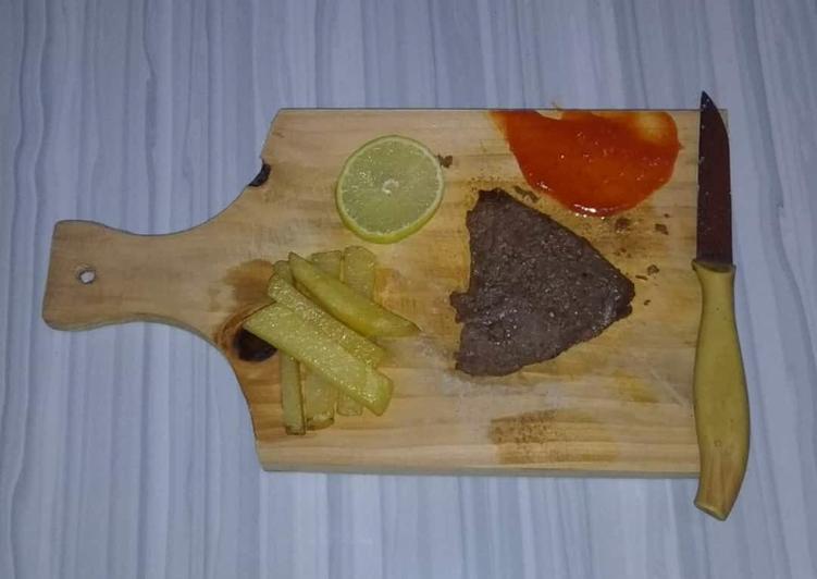 Langkah Mudah Membuat Steak sapi panggang Bikin Ngiler