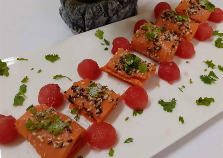 Steps to Prepare Ultimate Watermelon khandvi