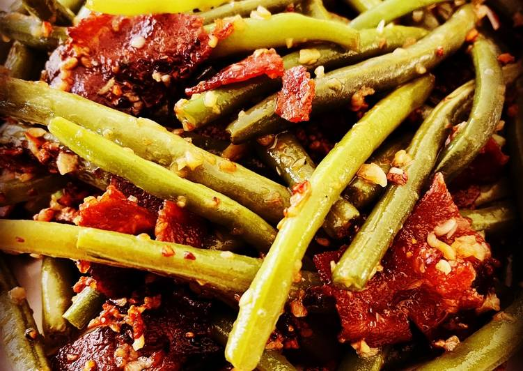 Recipe of Homemade Garlic and Bacon Green Beans
