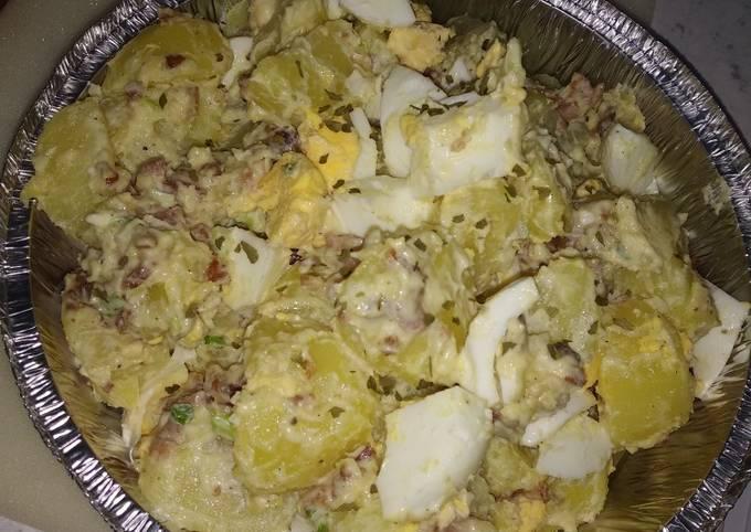 Potatoes bacon egg salad