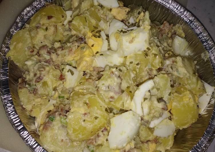 Steps to Make Perfect Potatoes bacon egg salad