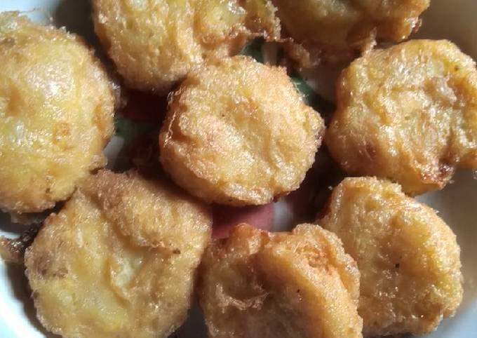 Perkedel kentang + tahu