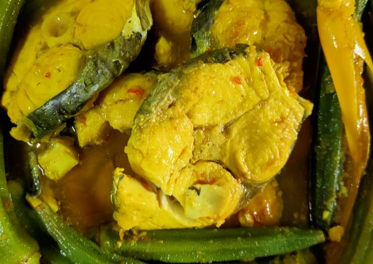ramuan ikan tenggiri masak asam pedas  lezat aneka resepi enak Resepi Asam Pedas Vegetarian Enak dan Mudah