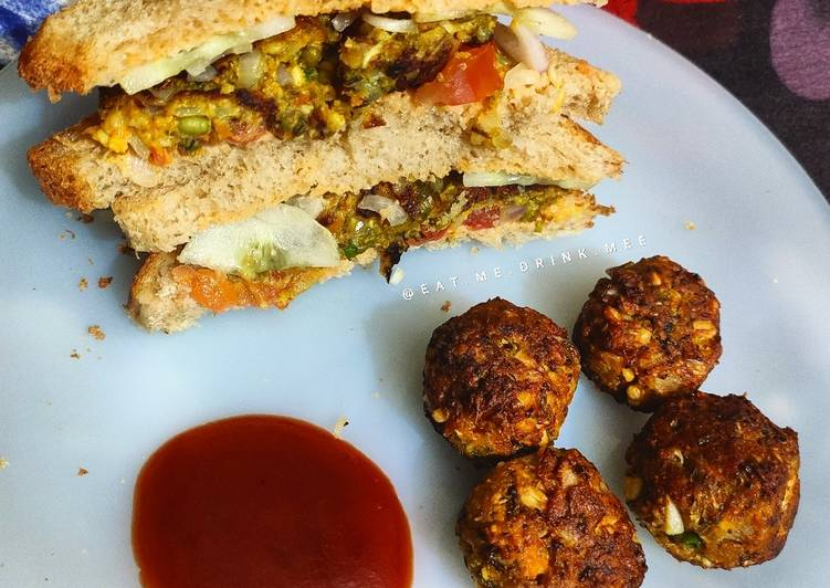 Sprouted Moong Dal Mini Cutlets and Sandwiches - Laurie G Edwards
