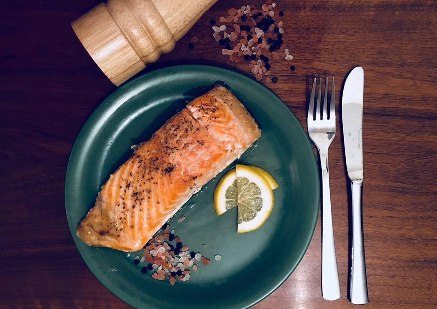 что пошаговые рецепты с фото запеченный лосось раннем