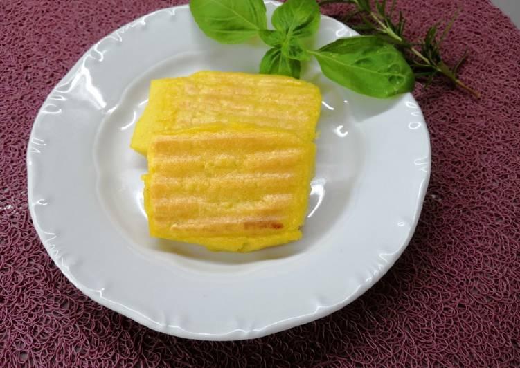 Sült puliszka, kukoricalisztből recept foto
