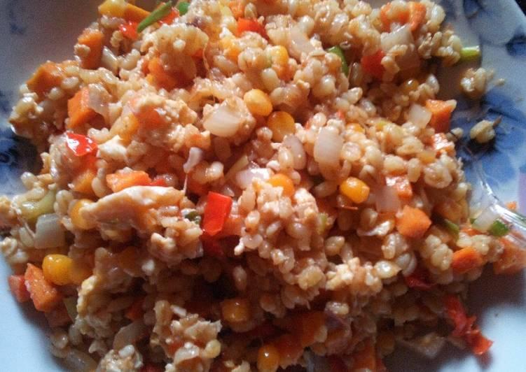 Bulgur wheat stir-fry