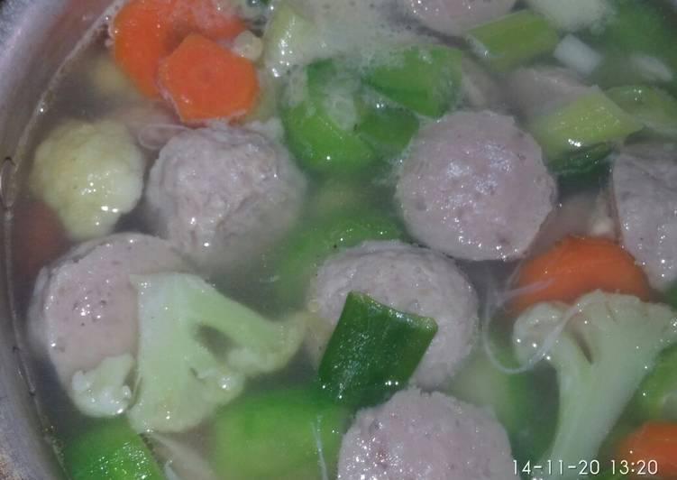 Sup bakso oyong sederhana