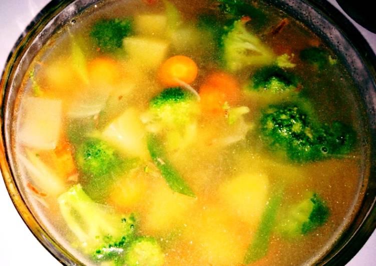 Sop brokoli dan wortel