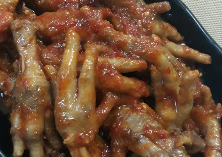 Asam Pedas Ceker Ayam