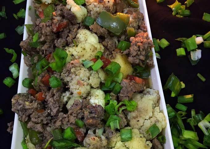Chinese style Qeema veggies